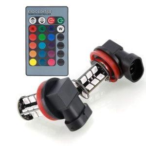 Becuri proiectoare RGB